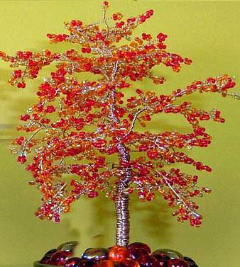 Сакура. Дерево из бисера,