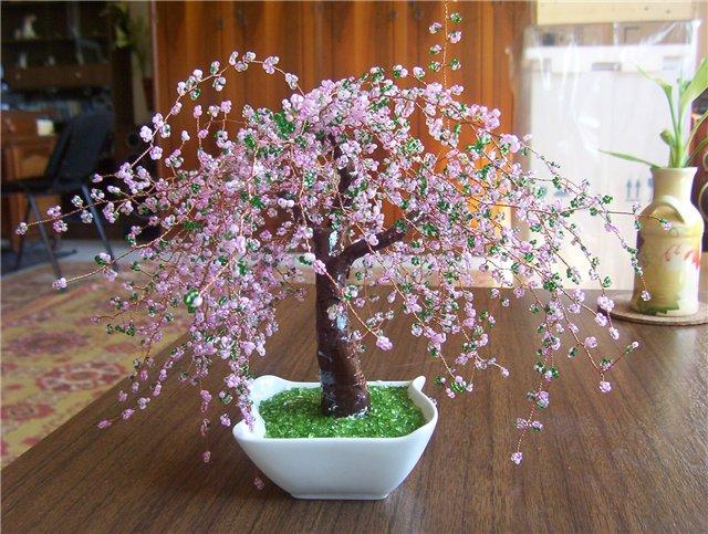 Схема бисероплетение дерево