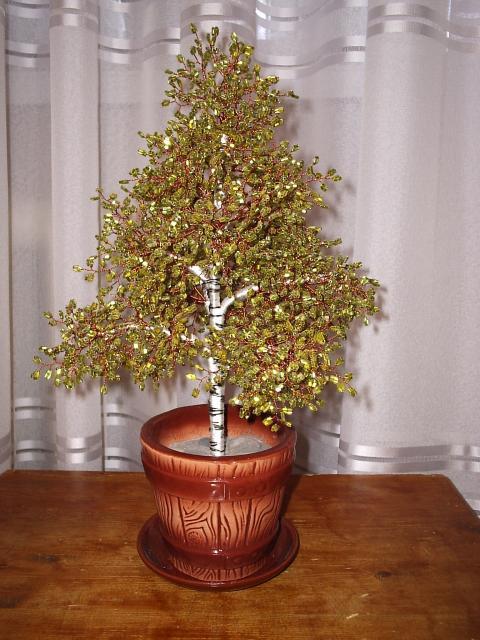 бисероплетение, деревья из