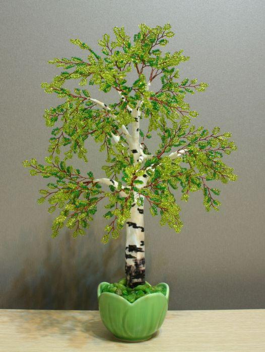 деревья из бисера для