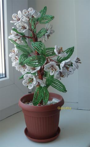 Из бисера схемы, цветы из лент
