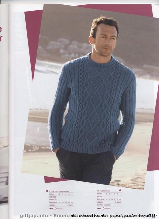Вязание на спицах джемпер и свитер мужской схемы.