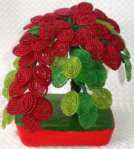 Цветы своими руками из бисера