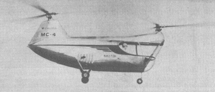 Совершил первый полет вертолет Маккалох МС-4 - первый вертолет продольной схемы, получивший сертификат типовой...