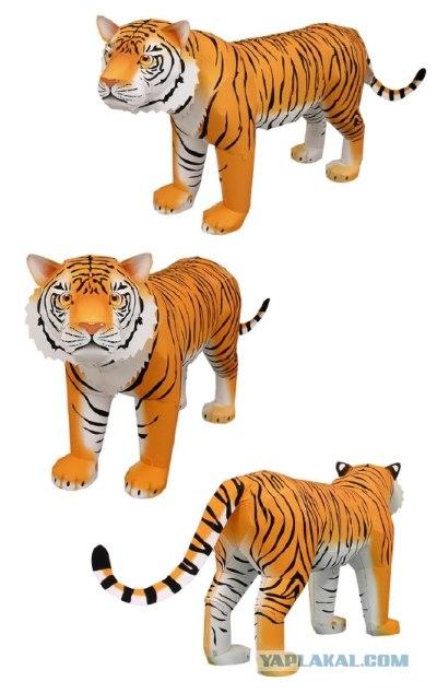 Из бумаги тигр