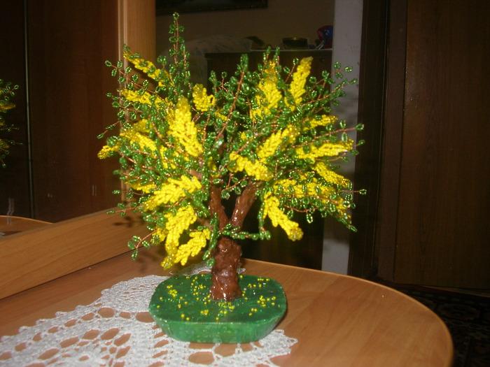 Рябинка.  Цветущее дерево Мастер-класс.  Красота из бисера.