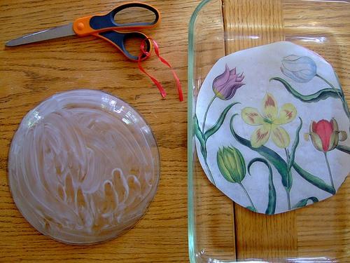 Как сделать фото на тарелке своими руками