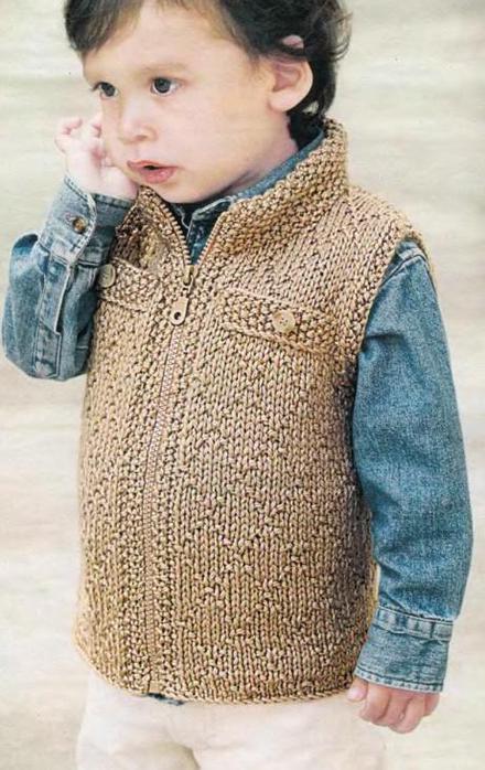 схема вязания жилета спицами для мальчика 1 год.