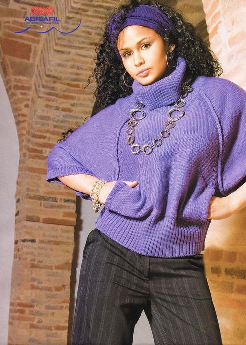 Как связать спицами рукав свитера 5