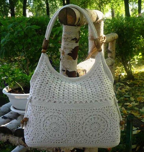 вязание крючком схемы сумок.