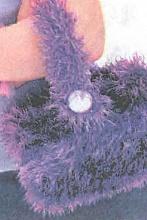 Вязаная пушистая сумка. вязания сумки. вам понадобится: пряжа лилового...