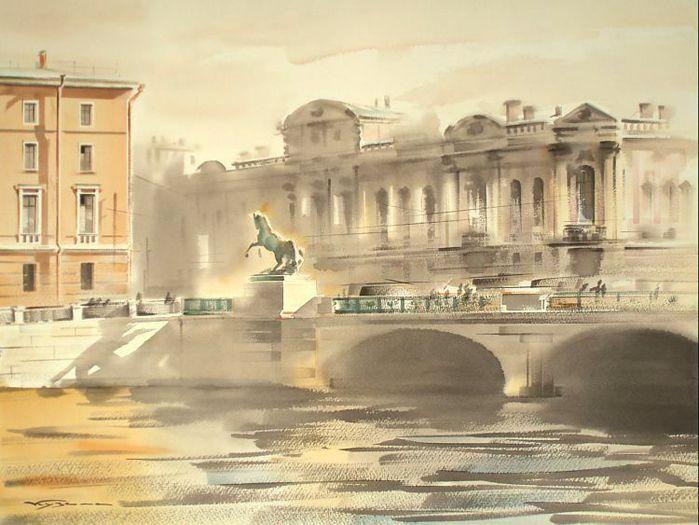 Аничков мост.  Вдали от тебя, Петербург Разбросано много Дорога в дорогу По миру стран всяких вокруг.