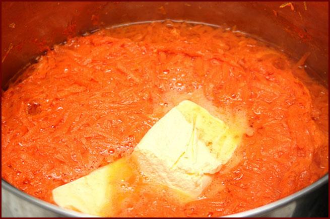Запеканка из отварной моркови