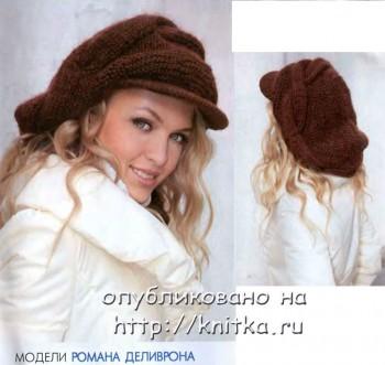 ...knitka.ru/3665/obemnyj-kepi-...yj-spicami.html. объёмный кепи спицами.