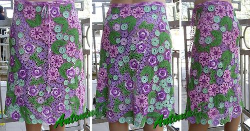 Вязанные юбки крючком со схемами для девочек фото 659