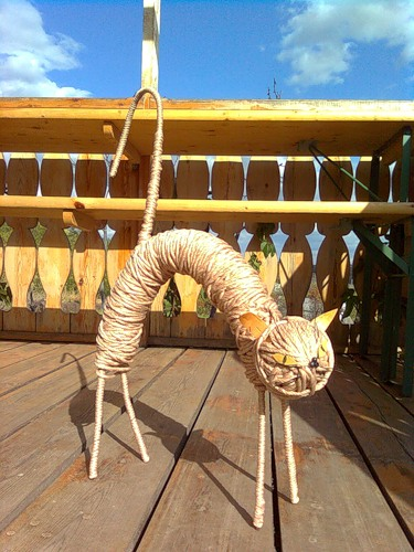 Декор из шпагата своими руками фото