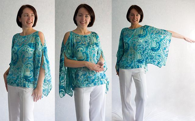 Блузка своими руками из палантина