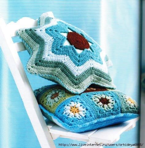 На сайте вязания схемы вязания подушек бесплатно.