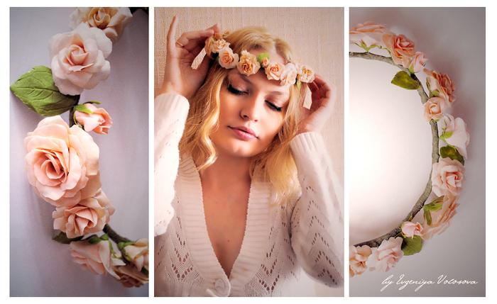 Цветы в голову своими руками
