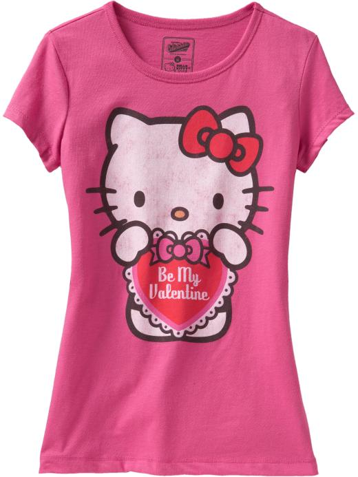 Майка с коротким рукавом для девочки Girls Hello Kitty Valentine.