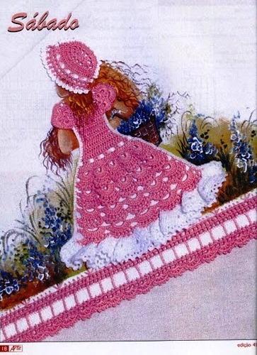 Прилагаются схемы для вязания платьев крючком.  Прочитать целикомВ.