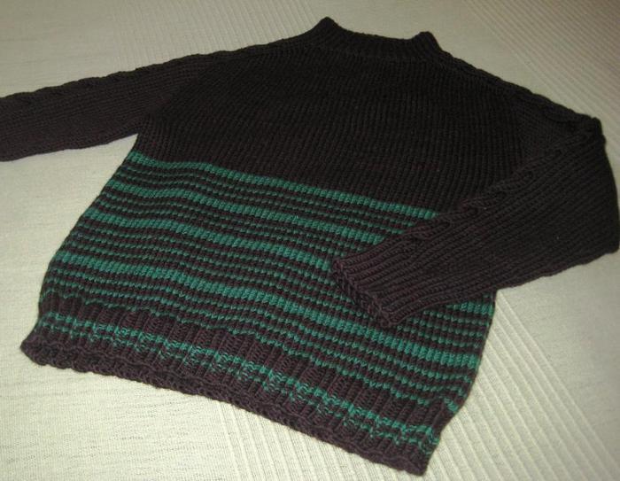 Оригинал записи и... Часть 3 - Бесшовный свитер с регланом-погоном сверху.