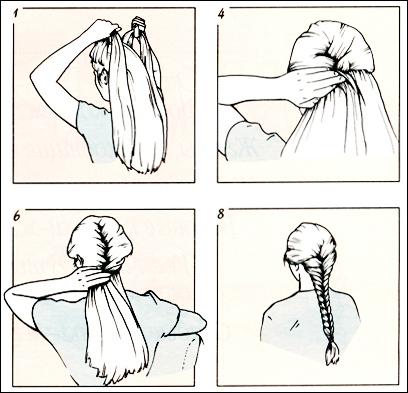 Как научится плести косы самой себе на средние волосы