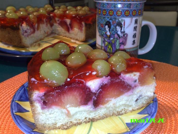 Сладкий пирог фруктами рецепт фото