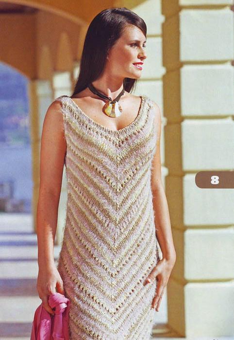1 раз. ссылка. спицы. вязание. платье. платья. летние модели.