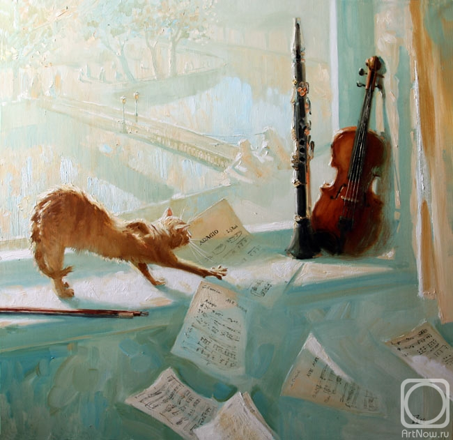 """The only escape from the miseries of life are music and cats.  Artist.  Maria Pavlova.  Albert Schweitzer."