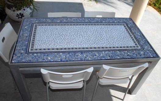 Кухонный стол своими руками из мозаики