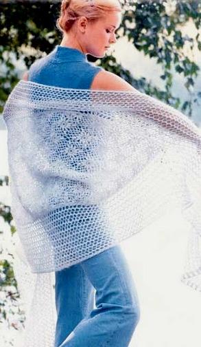 Модный портал. вязанные шарфы крючком.