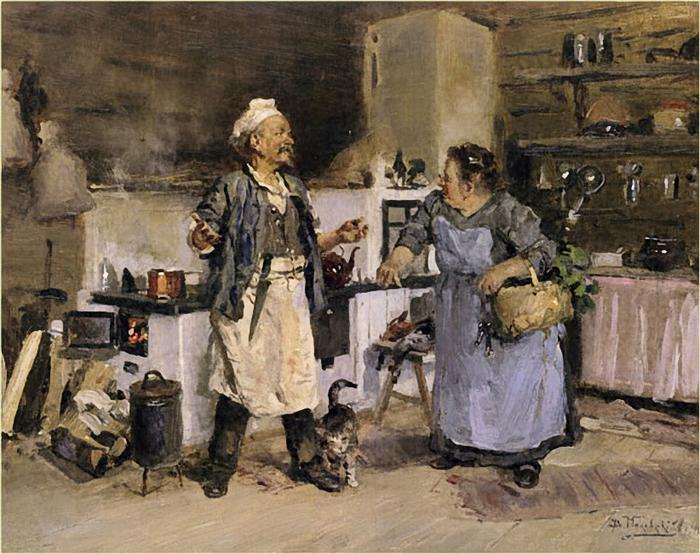 Владимир Маковский.Повар и кухарка (700x554, 424Kb)