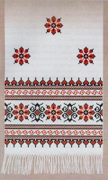 схема вышивки крестом рушник.
