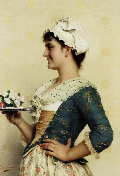 Tito Conti (Italian, 1842-1924)  – The Love Letter (408x600, 204Kb)
