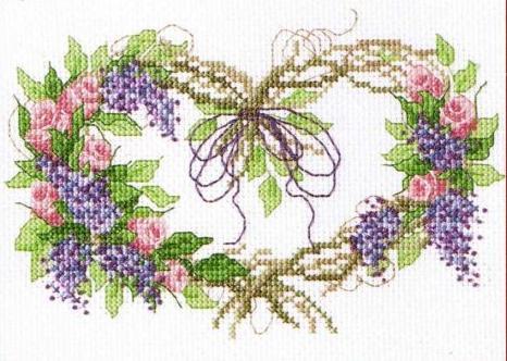 Bucilla 43095 Rosebud Wreath (466x332, 39Kb)