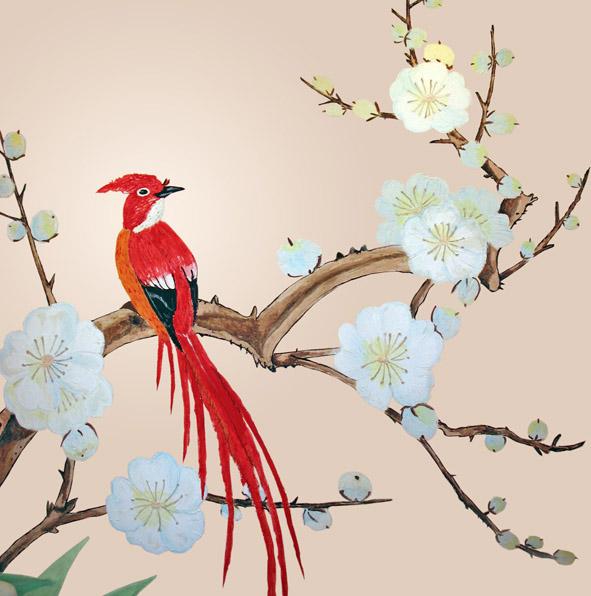 рисунки птиц акрилом