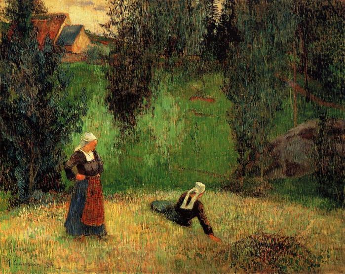 2010239_Gauguin,_Paul___First_Spring_Flowers,_1888 (700x556, 400Kb)