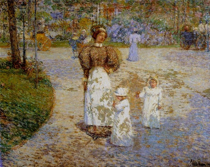 2010239_Childe_Hassam_Spring_in_Central_Park_1908 (700x555, 234Kb)