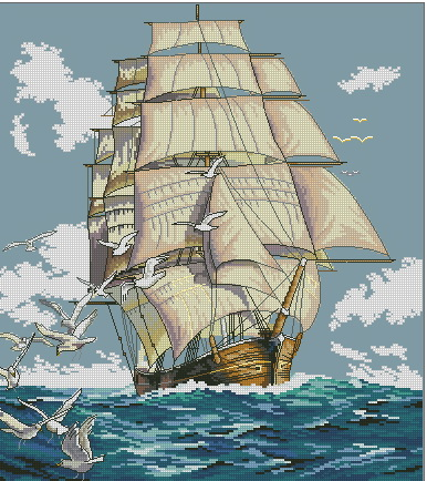 03886 Clipper Ship Voyage (386x434, 115Kb)