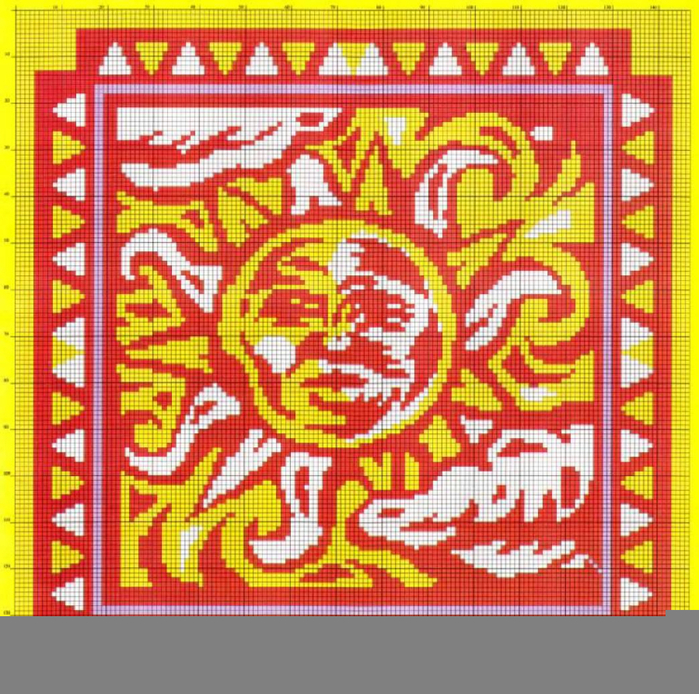 подушка Солнце (700x694