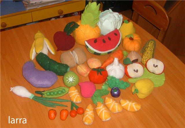 Фрукты и овощи своими руками для детского сада
