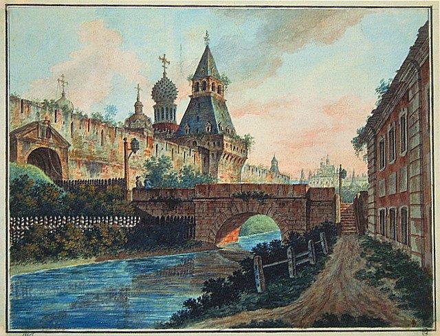 Вид Владимирских (Никольских) ворот Китай-города.1800. (640x489, 114Kb)