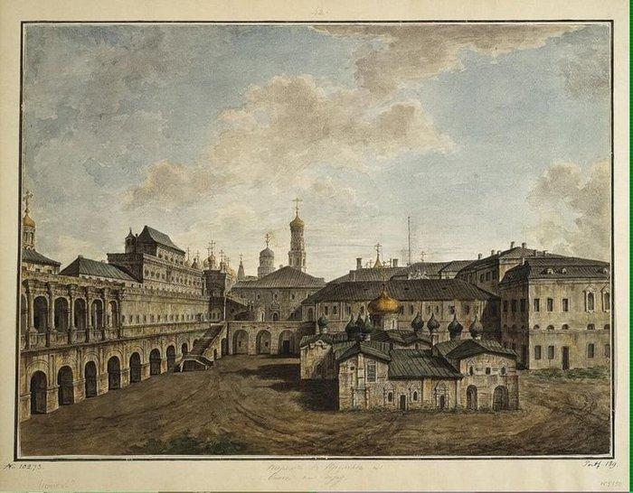 Терем и церковь Спаса в Кремле. 1800.аква (700x546, 92Kb)