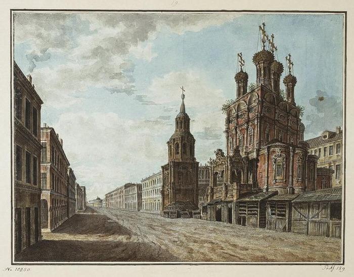 Церковь Иоанна Предтечи, Боровицкая Николы Большой крес на Ильинке1800. (700x548, 142Kb)