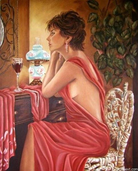 женщина и зеркала в живописи