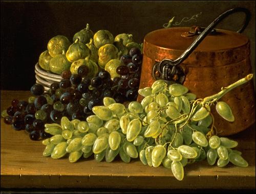 А. Валайер-Костер.  Натюрморт с персиками и виноградом.  1779.