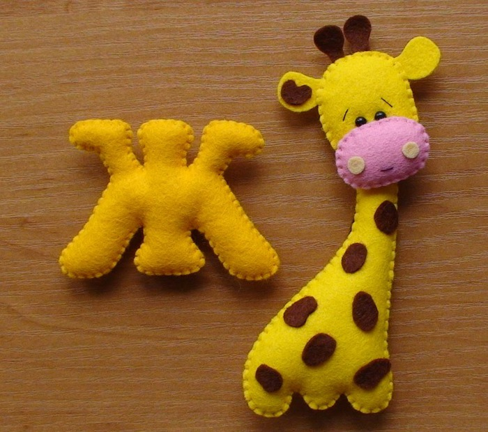 алфавит из фетра, фетровый алфавит, фетровые игрушки, игрушки из фетра
