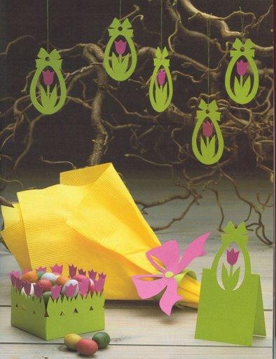 Пасхальные подарки из бумаги своими руками