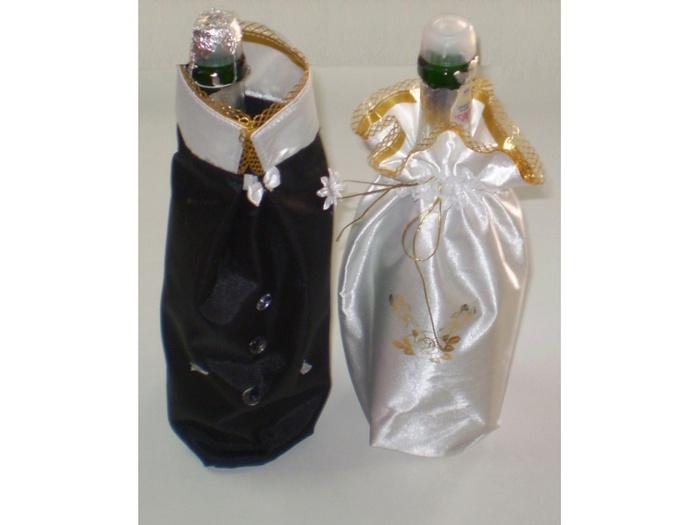 Как сшить мешочек для бутылки шампанского 5
